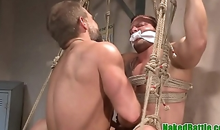 Inked wrestling stud gets his ass plowed