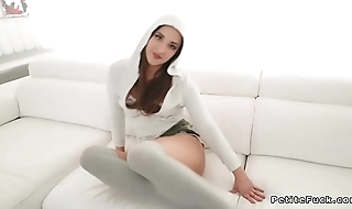 Hot ass spinner in hoodie fucking big dick
