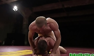 Wrestling hunk anally banged from behind
