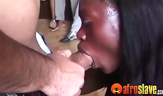 African slaves fuck white guys at BDSM orgy