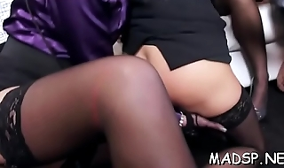 Horny lustful gals have a fun a male treat at a sex party