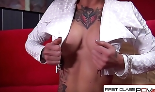 FirstClassPOV - Kleio Valentien helter-skelter a monster horseshit in her throat, big booty