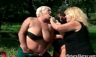 Wild Sexy Old Lesbian Outdoor Action