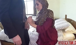 Arab boss earns heaven by fucking a homeless chicks tight pussy