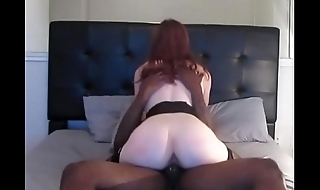Red haired snowbunny amateur with BBC