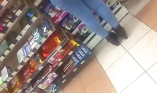Candid slow mo video Mexican booty at gas station Pt 2