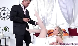 Super Slut Gets The brush Ass Stretched
