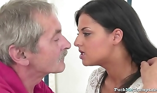 Dirty Teen Rides Grandpas Cock Nicely