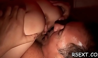 Mature hooker sucks dick and gets it hard in satiety of positions