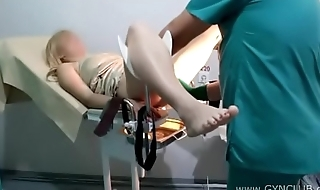 Blonde convenient the gynecologist