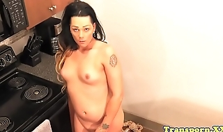 Amateur tranny stripping and effectuation around