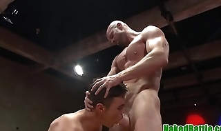 Wrestling jock anal beads hunks ass before bj