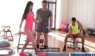 Two cocks workout for hot fit teen(Lady Dee) 01 video-17