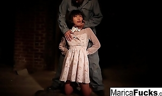 Marica gets divest and fondled in the basement