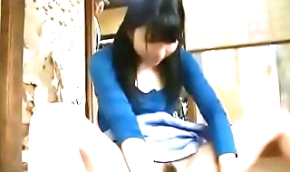 Young Japanese girl alone at home is fucked wide of an old man abuser