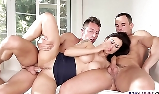 Anally spooned rafter shoots his warm jizz