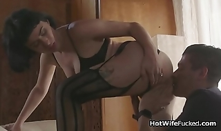 Amazing hotwife cheats in lingerie