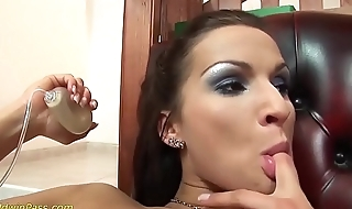 pussy pumped and deep anal fucked