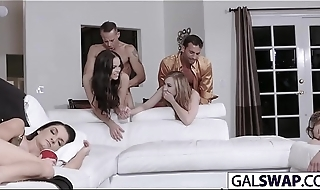 Stepdads Dirty Swapping Game With Teens
