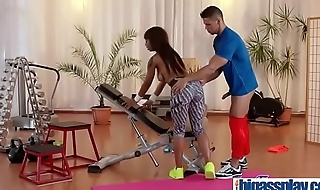 Gym cock for black bubble butt Milf(Lola Marie) 03 video-09
