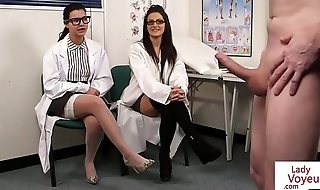 Gorgeous UK nurses help patient to shoot cum