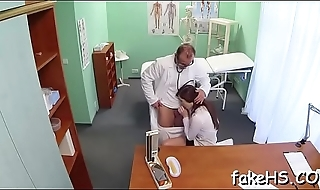 At coup de gr�ce lascivious doctor gets fucked