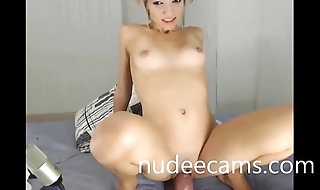 Huge dildo masturbation