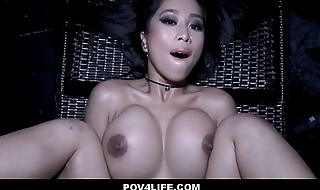 Hot Asian Teen Caught Skinny Dipping Fucked By Neighbor POV