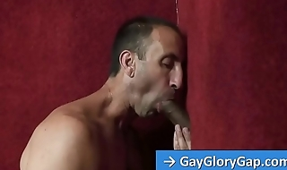 Gay male Steven Richards suck and rub black big cock