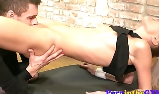 Athletic babe pussyfucked after boxing lesson