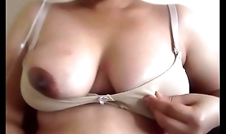 Indian girl self nipple play
