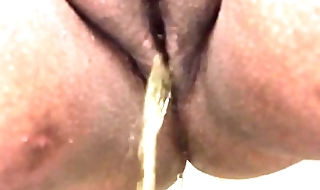 Wife pissing at work