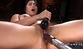 Huge tits Asian bonking machine