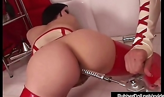 Latex Babe Rubber Doll Abuses Succubus With Dental Sex Impedimenta