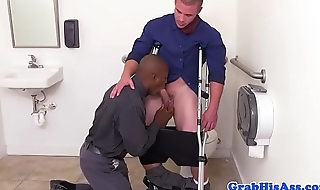 Hung ebony stud drilled wide of office boss